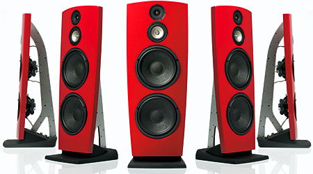 jamo red speakers