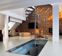 Glass Floor in modern home