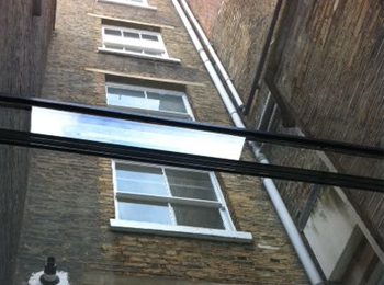 Glass Roofing Outside