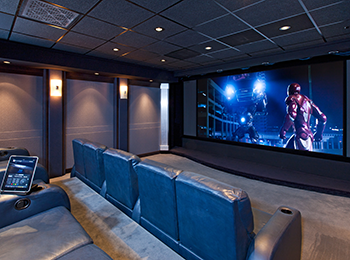 Home Cinema with wireless controls